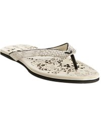 Puma Amq For Old White Ligament Snake Thong Sandals - Lyst