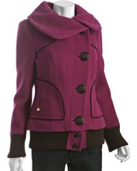 SOIA & KYO - Fuchsia Wool Blend Leeloo Bomber Coat - Lyst