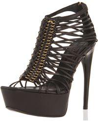 Alexander McQueen Cage T-strap Platform Sandal - Lyst