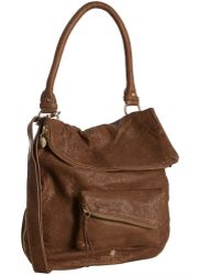 Gustto Camel Leather Falcha Convertible Shoulder Bag - Lyst