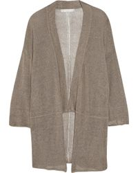 Kain Bea Open-knit Linen-blend Cardigan - Lyst