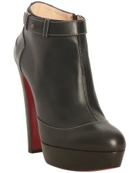 christian louboutin unique 140 leather boots