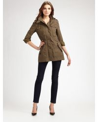 Cole Haan Hooded Military Jacket - Lyst