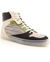 Balenciaga Paneled Leather High Top Sneakers - Lyst