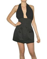 Lublu Satin and Chiffon Dress - Lyst