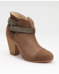 Rag & Bone Strapped Suede Boots brown - Lyst