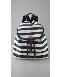Splendid - Striped Canvas Backpack - Lyst