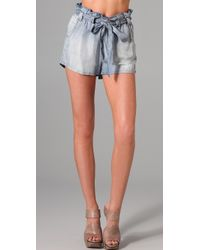 Sass & Bide - Great Moments Chambray Shorts - Lyst