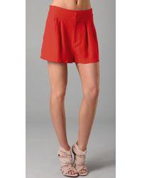 Rebecca Minkoff - Hali Cutout Shorts - Lyst