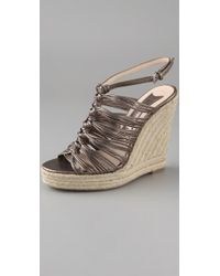 Boutique 9 - Barella Metallic Knotted Espadrilles - Lyst