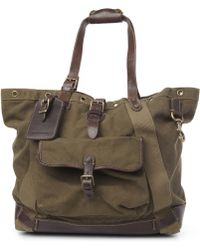 d64a18c0ac85 Ralph Lauren - Canvas and Leather Tote Bag - Lyst
