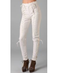 Rodarte x Opening Ceremony Lace Up Pants - Lyst