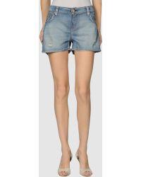 Evisu - Denim Shorts - Lyst