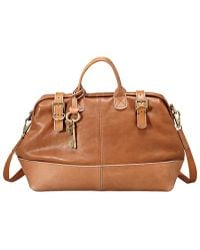 Fossil - Frame Leather Holdall - Lyst
