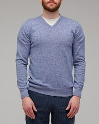 Vanishing Elephant Blue Tempe V-neck - Lyst