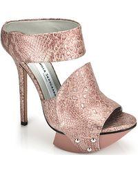 Camilla Skovgaard .2 - Metallic Blush Platform Collar Sandal - Lyst