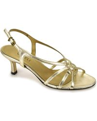 Vaneli - Modesta - Gold Leather Sandal - Lyst