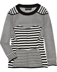 Sonia Rykiel Fine-knit Patchwork Striped Cotton-blend Sweater - Lyst