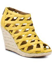 Kelsi Dagger Kaden - Yellow Leather - Lyst
