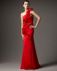 Redux Charles Chang-lima - One-shoulder Chiffon Ruffle Gown - Lyst