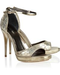 Calvin Klein Paillette-embellished Satin Sandals - Lyst
