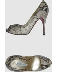 Luciano Padovan Pumps with Open Toe - Lyst
