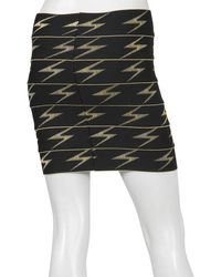 Pleasure Doing Business Bolts Skirt In Black Yellow - Lyst