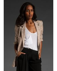 Elizabeth And James Distressed James Blazer - Lyst