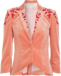 L'Wren Scott - Embroidered Jacket - Lyst