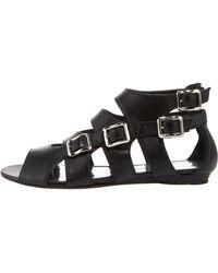 Balmain - Four-buckle Flat Sandal - Lyst