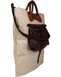 Jas MB - Beige Canvas and Leather Shopper Bag - Lyst