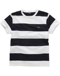 Farhi by Nicole Farhi - Merc Stripe T Shirt Navy White - Lyst