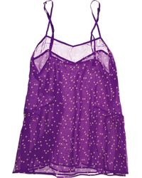 Stella McCartney Cate Blossoming Silk Camisole - Lyst