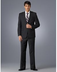Calvin Klein Black Striped 2button Suit Jacket - Lyst