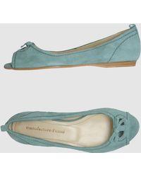 Manufacture D'essai - Peep-toe Ballet Flats - Lyst