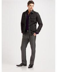 Versace Flat Front Dress Pants - Lyst