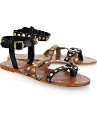 By Malene Birger - Diva Studded Leather Sandals - Lyst