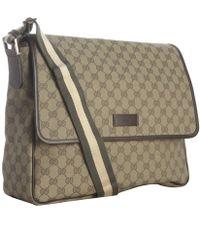Gucci Military Gg Canvas Web Stripe Messenger Bag - Lyst