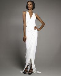 Donna Karan New York Superfine Jersey Draped Gown - Lyst