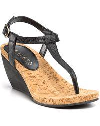 Lauren by Ralph Lauren Rosalia Wedge Sandals - Lyst