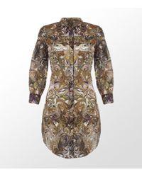 Paul Smith Black Label Jimmy Marble Print Shirt Dress - Lyst