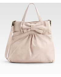 RED Valentino Leather Bow Tote - Lyst
