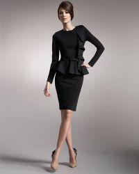 Valentino - Knit Godet-back Pencil Skirt - Lyst