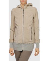 M. Grifoni Denim - Leather Outerwear - Lyst