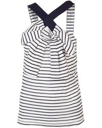 Sonia By Sonia Rykiel Striped Bow Tank - Lyst