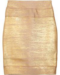 Hervé Léger High-waisted Bandage Skirt - Lyst