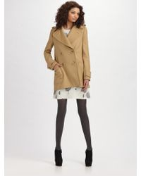 See By Chloé Wool Pea Coat - Lyst