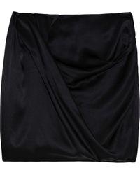 Aminaka Wilmont Draped Silk-satin Skirt - Lyst