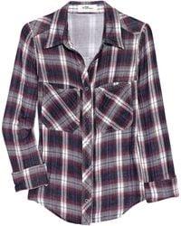 Etoile Isabel Marant Gibson Plaid Cotton Shirt - Lyst