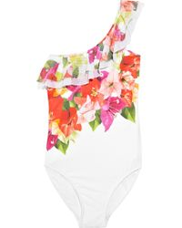 Jets by Jessika Allen Vista Floral-print One-shoulder Swimsuit - Lyst